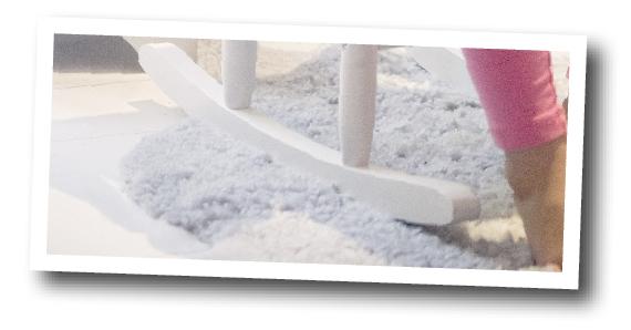 Mjukt golv i barnrummet? Trägolv, klickgolv, hetäckningsmatta, det viktiga är att det ger en mysig känsla.