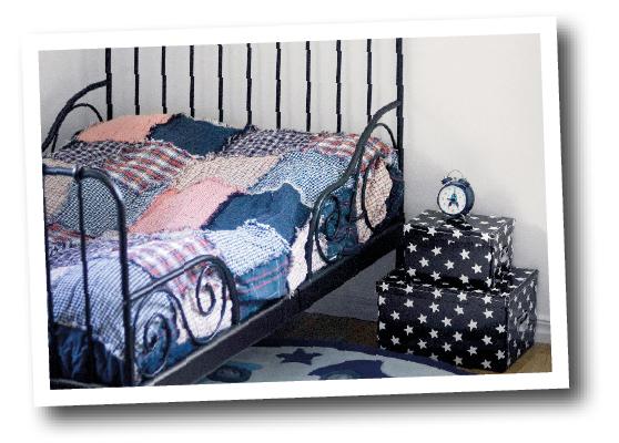Sängar, speciellt säkerheten i barnsängar är viktigt. Och om det finns förvaring.