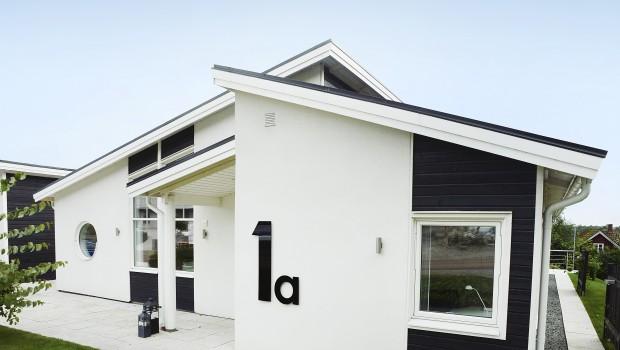 Träkomposit fasad